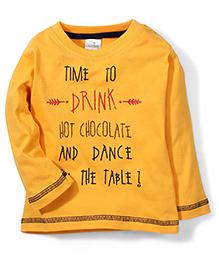 Babyhug Full Sleeves T-Shirt Text Print - Yellow