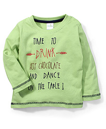 Babyhug Full Sleeves T-Shirt Text Print - Green