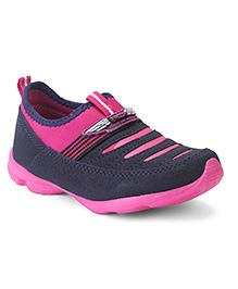 Footfun Slip-On Casual Shoes - Pink Black