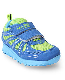 Force 10 Casual Shoes With Dual Velcro Closure - Blue