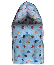 Luk Luck Port Baby Sleeping Bag Apple Print - Blue