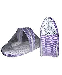 Luk Luck Port Baby Sleeping Bag With Mosquito Net Combo Gift Set - Purple