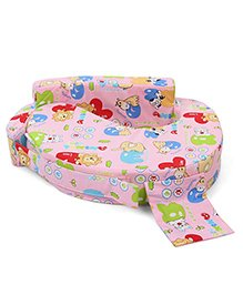Babyhug Feeding Pillow Animals With Heart Print - Pink