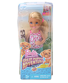 Barbie Great Puppy Adventure Doll - Pink