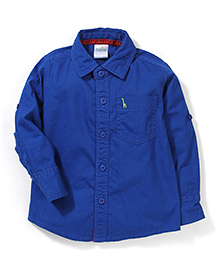 Babyhug Full Sleeves Solid Shirt - Royal Blue