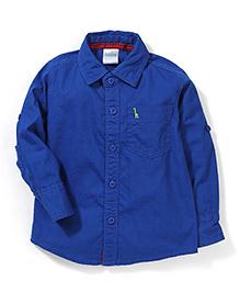 Babyhug Full Sleeves Solid Shirt - Royal Blue