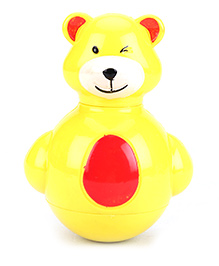 Toddlers Roly Poly Teddy - Yellow