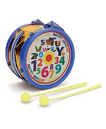 Juniors Musical Drum Alphabet Print - Blue