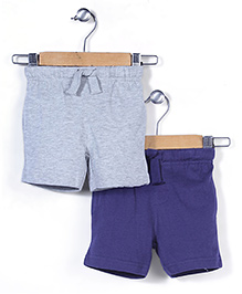 Mothercare Pack Of 2 Shorts - Grey And Navy