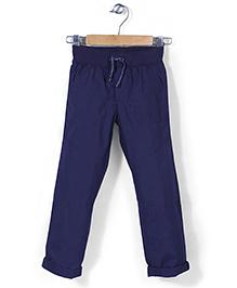 Mothercare Crunchy Cotton Trouser - Navy Blue