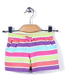 Mothercare Drawstring Striped Shorts - Multicolor