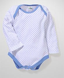 Babyhug Long Sleeves Onesies Allover Print - White