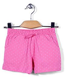 Mothercare Drawstring Shorts Polka Dots - Pink