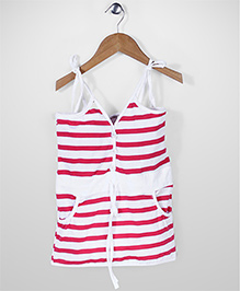 The Kidshop Stripe Dress - Pink & White