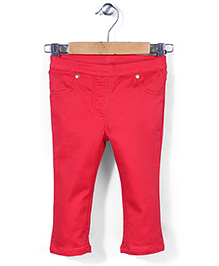 Mothercare Full Length Jeggings - Red
