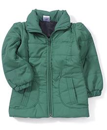 Babyhug Full Sleeves Plain Jacket - Green