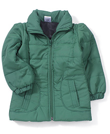 Babyhug Full Sleeves Plain Jacket - Green