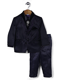 Babyhug 4 Piece Party Suit - Navy