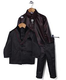 Babyhug 4 Piece Party Suit - Brown