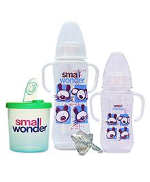 Small Wonder Clear Feeding Set Of 4 - Green & Transparent