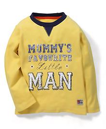Mothercare Full Sleeves T-Shirt Caption Print - Yellow