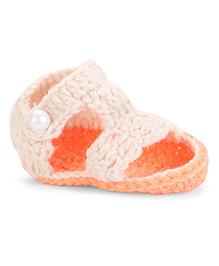 Cute Walk Sandal Style Booties - Cream Orange