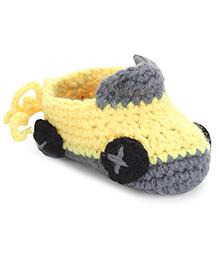 Cute Walk Booties Car Design - Yellow Grey