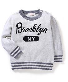 Fox Baby Full Sleeves Sweater - Grey