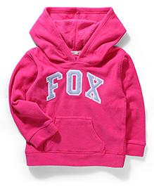 Fox Baby Hooded Sweatshirt - Fuchsia