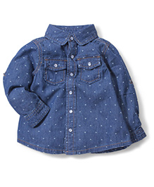 Fox Baby Full Sleeves Shirt - Blue