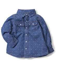 Fox Baby Full Sleeves Shirt - Blue