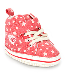 Fox Baby Casual Shoes Star Print - Red