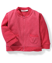 Fox Baby Full Sleeves Sweat Jacket - Pink