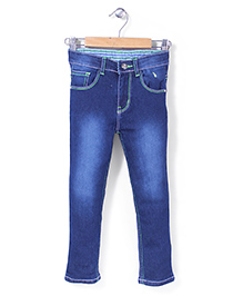 Babyhug Full Length Jeans - Deep Blue