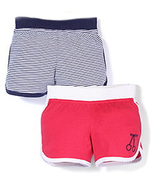 Mothercare Shorts Pack Of 2 - Red & Navy