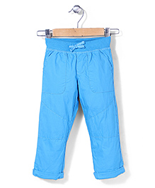 Mothercare Crunchy Cotton Trouser - Turquoise Blue