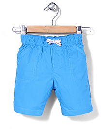 Mothercare Crunchy Cotton Shorts - Turquoise Blue