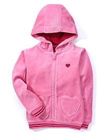 Mothercare Full Sleeves Hooded Jacket - Pink