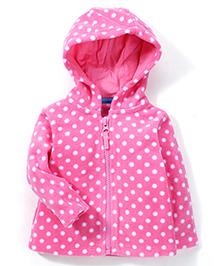 Mothercare Full Sleeves Hoodie Polka Dots - Pink