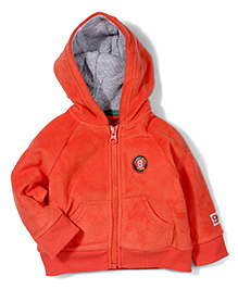 Mothercare Full Sleeves Hoodie - Orange