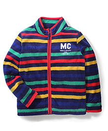Mothercare Stripe Fleece Sweatshirt - Multicolour