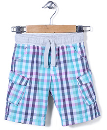 Mothercare Checks Cargo Shorts - Multicolor