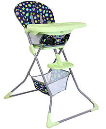Baby High Chair - Green And Black