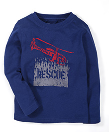 Mothercare Full Sleeves T-Shirt Helicopter Print - Navy Blue
