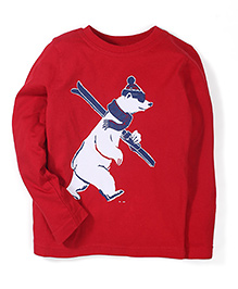 Mothercare Full Sleeves T-Shirt Polar Bear Print - Red