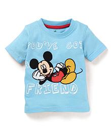 Disney by Babyhug You ve Got A Friend Print T-Shirt - Sky Blue