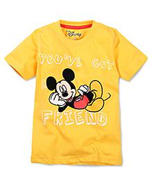 Disney by Babyhug You ve Got A Friend Print T-Shirt - Yellow