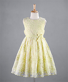 Mothercare Sleeveless Glass Lace Frock - Yellow
