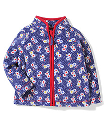 Mothercare Full Sleeves Floral Jacket - Blue