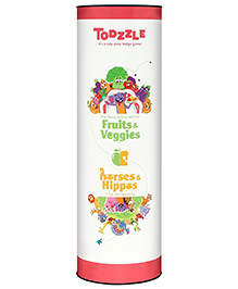 MadRat Todzzle Fruits Veggies Horses & Hippos - Red